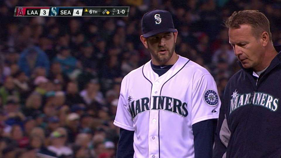 Paxton leaves the game