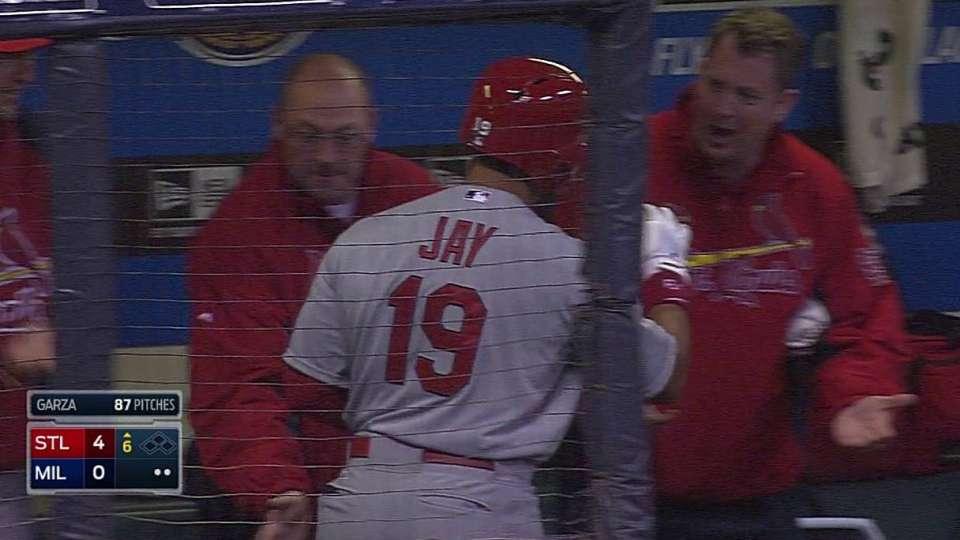 Jay's three-run shot to right