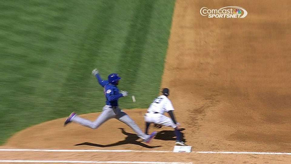 Cubs challenge call at first