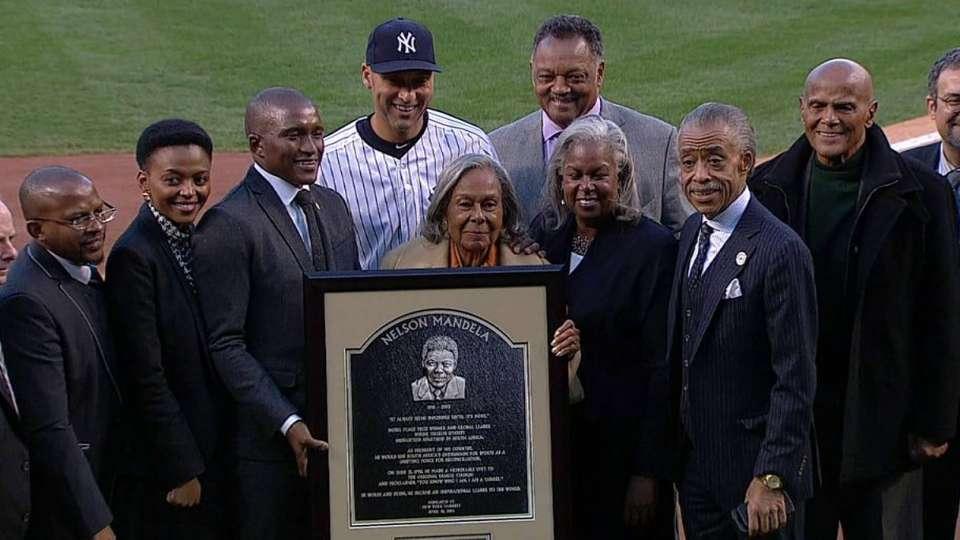 Mandela plaque ceremony