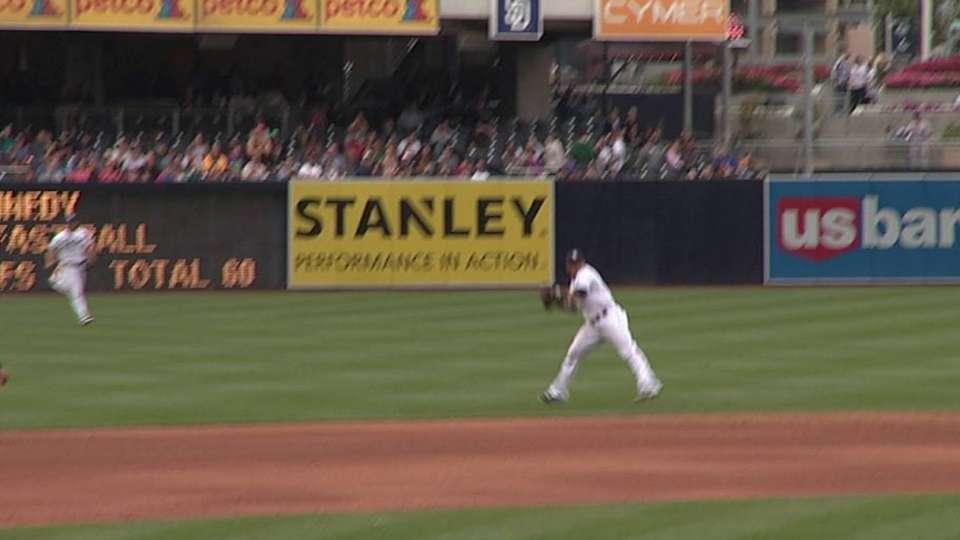 Cabrera's leaping grab