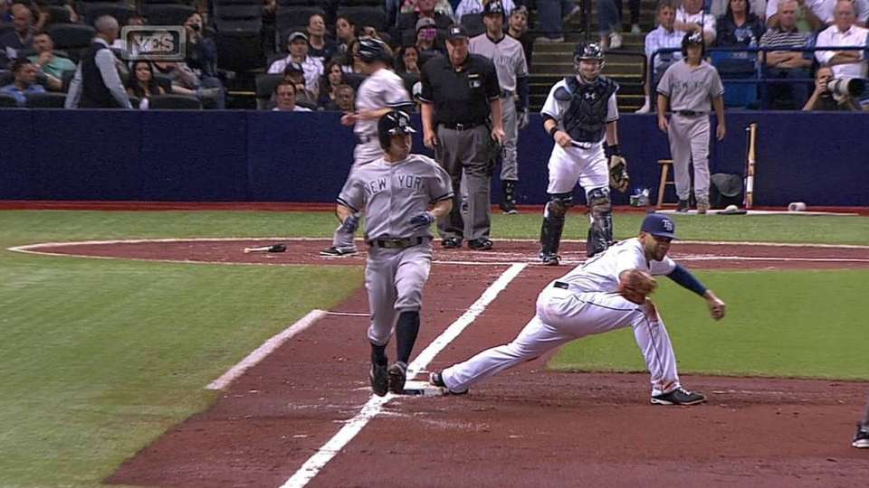 Gardner's RBI fielder's choice