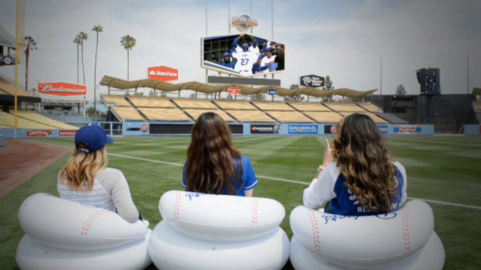 Get a Dodgers inflatable chair