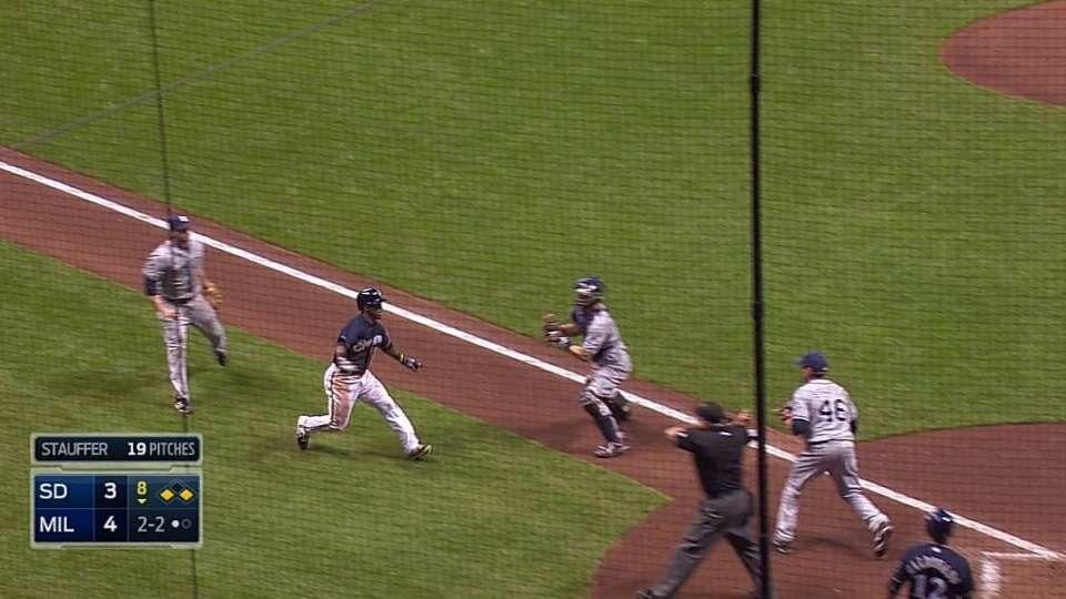 Padres turn wacky double play