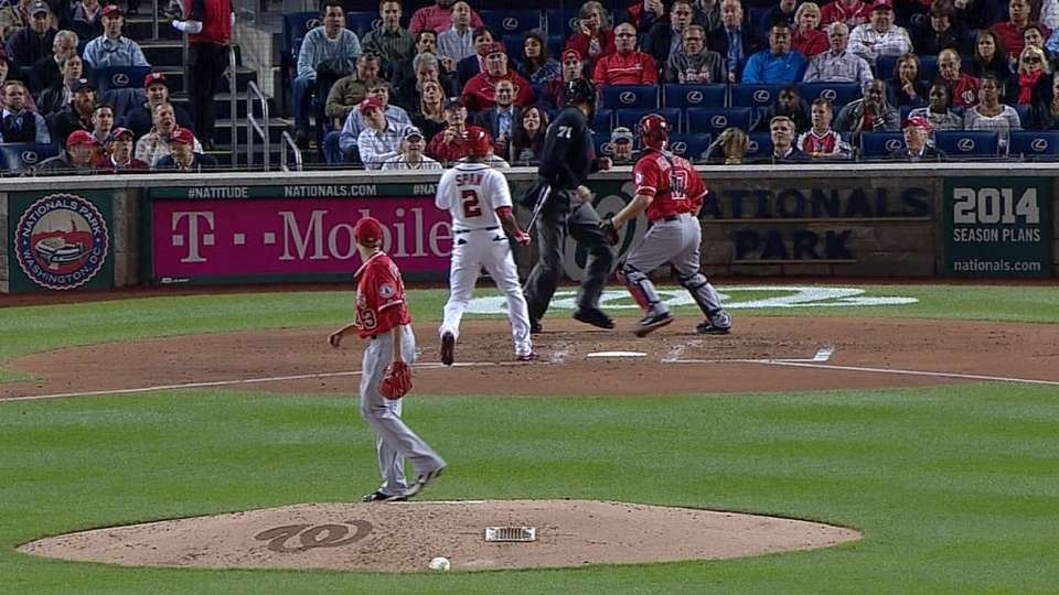 Richards' two errant pitches