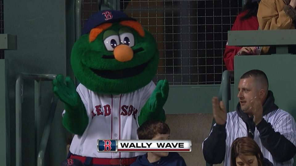 Red Sox fans do the Wally Wave