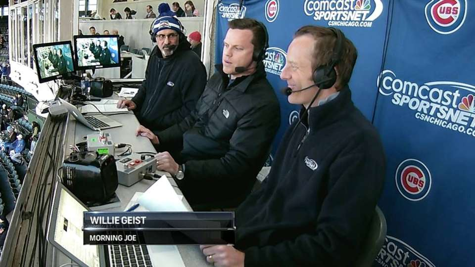 Geist joins the Cubs' booth