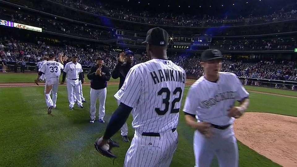 Hawkins gets Pagan, earns save