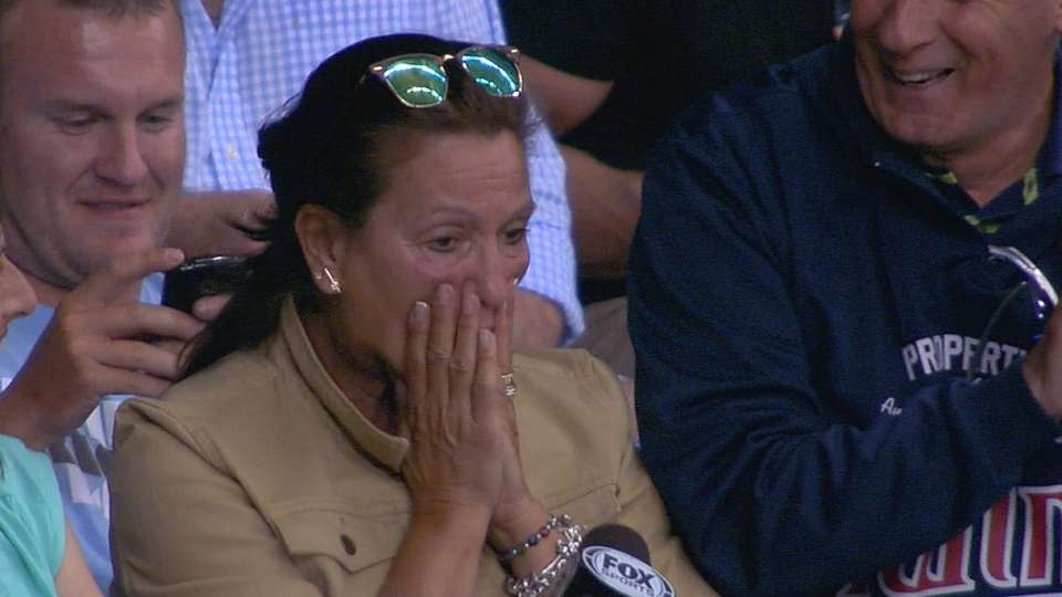 Colabello homers as mom looks on