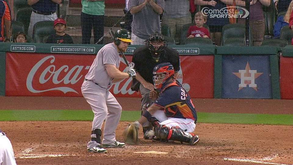 A's challenge hit-by-pitch call