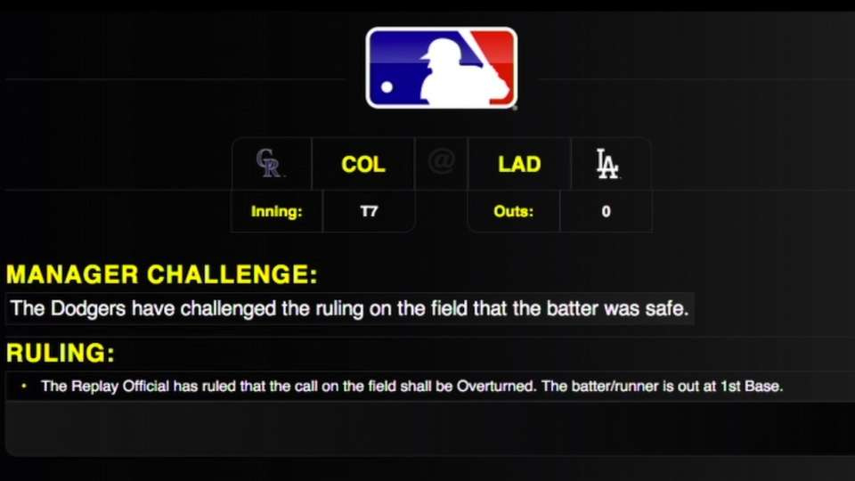 Call at first is overturned