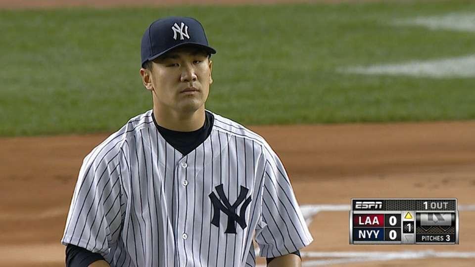 Tanaka's strong start vs. Angels