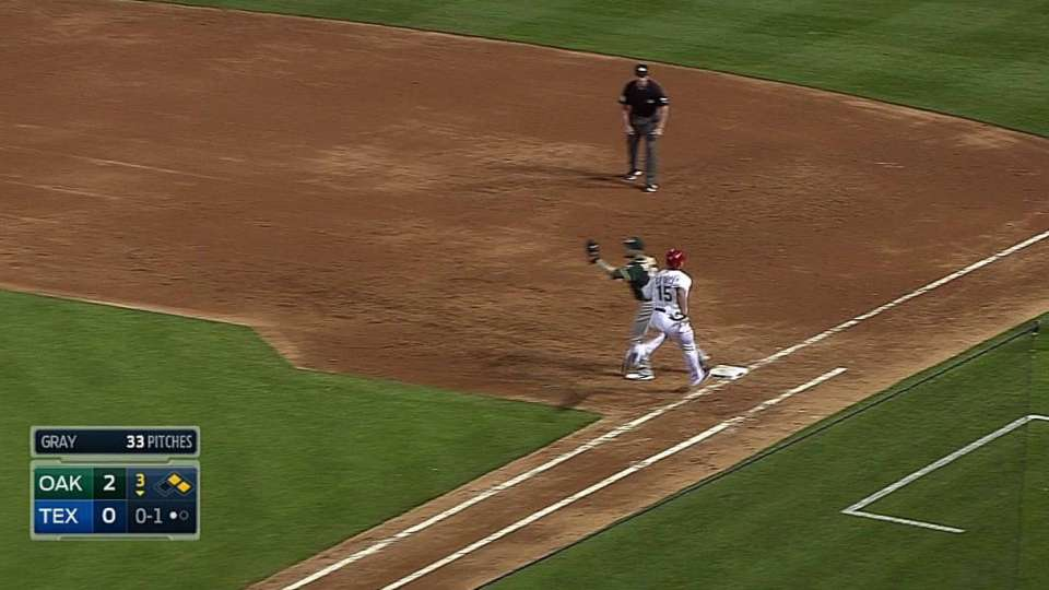 Lowrie starts double play