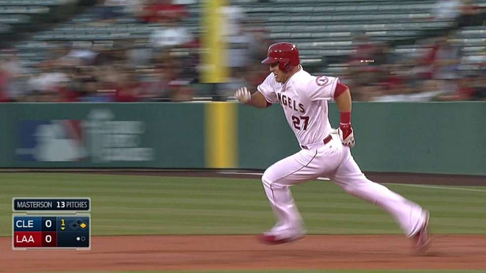 Trout's triple to center