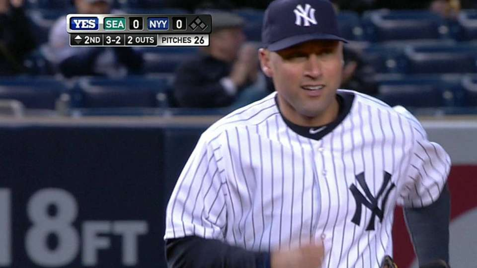 Jeter's backhanded stop