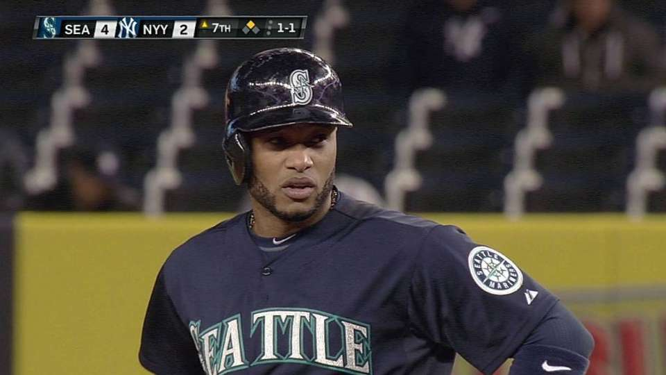 Cano steals second