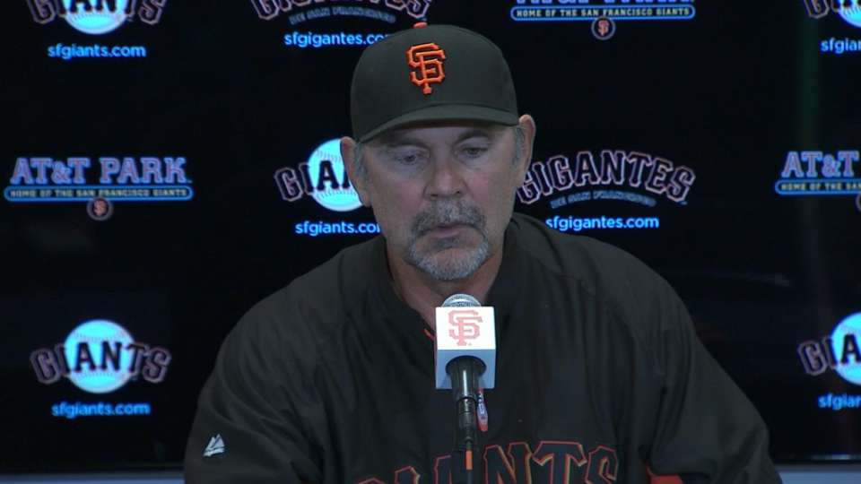 Bochy on Petit's outing