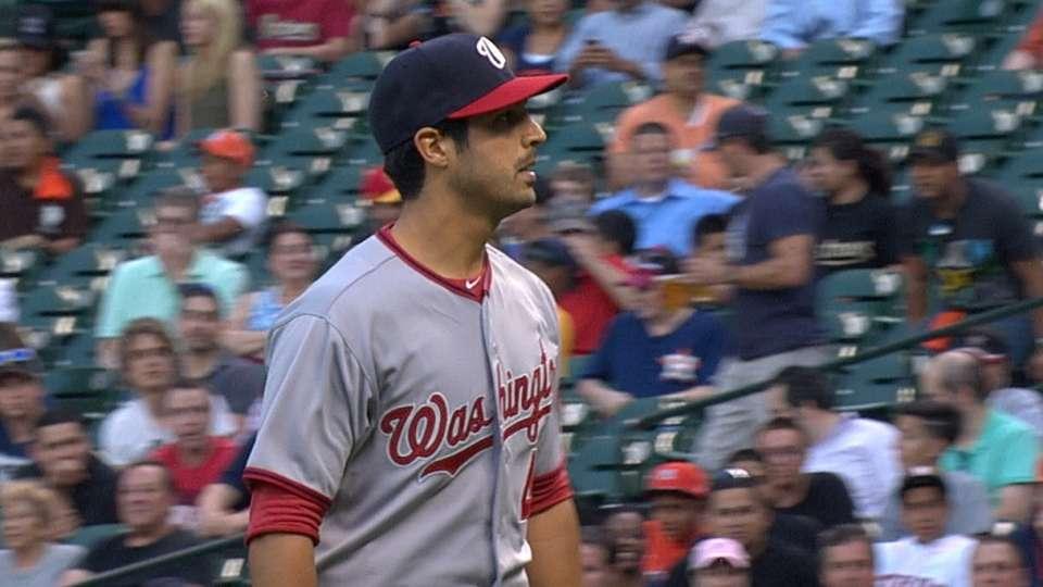 Gonzalez fans nine in outing