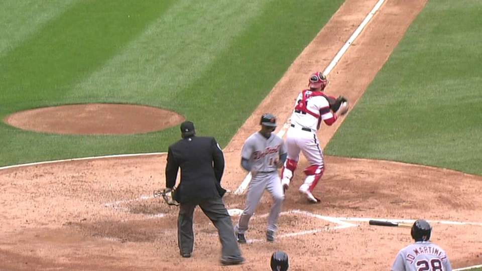 Holaday's two-run double