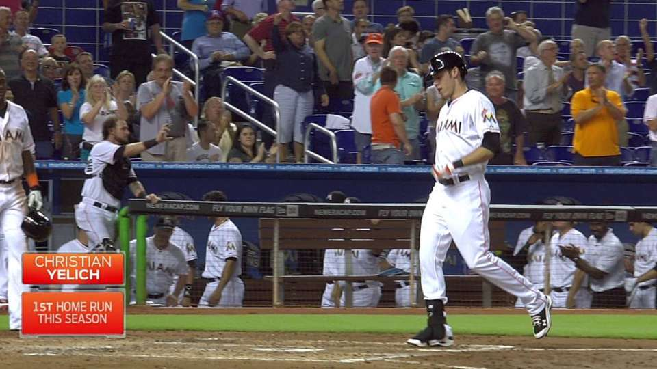 Yelich's two-run shot