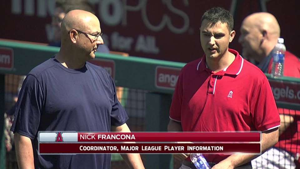Francona meets with son