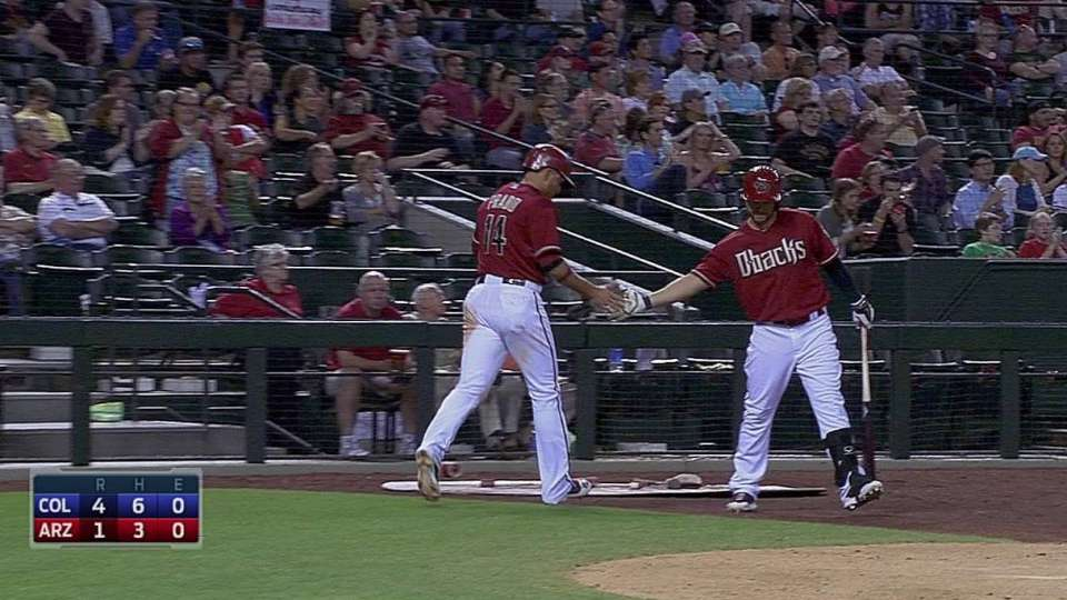 Prado scores on groundout
