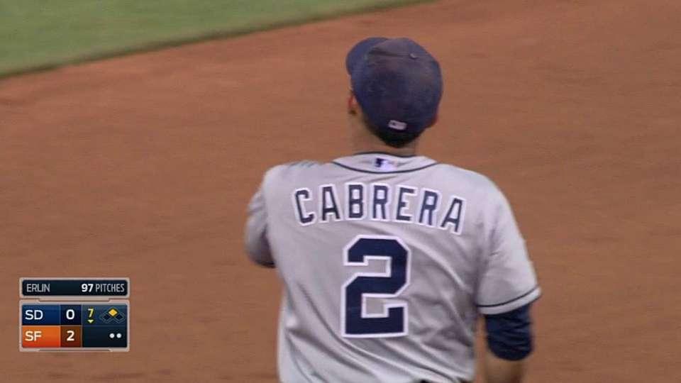 Cabrera's strong throw