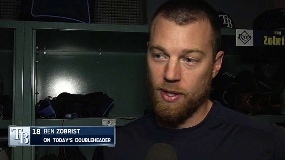 Zobrist discusses doubleheader