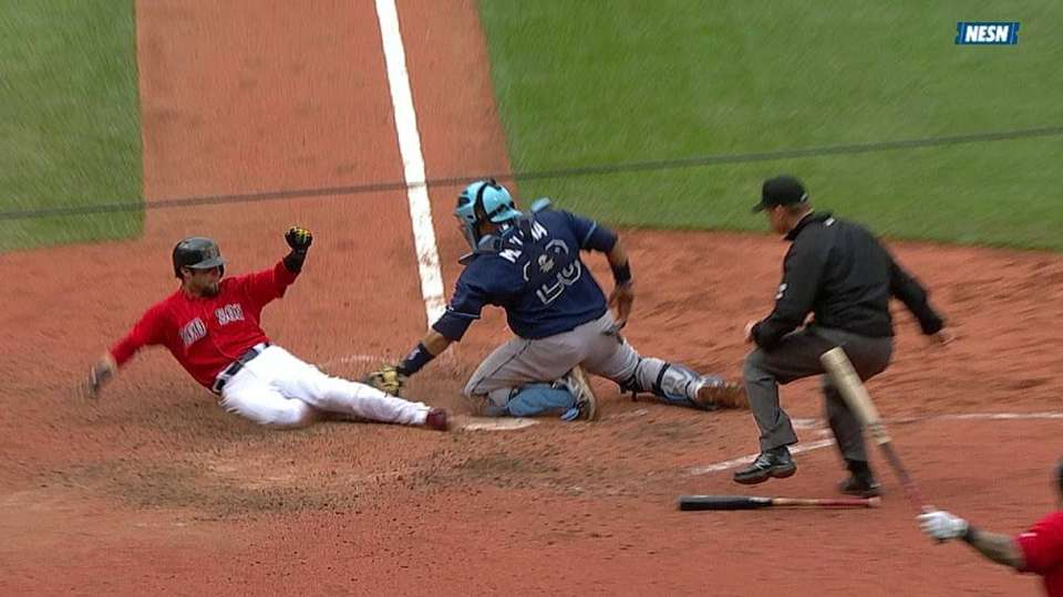 Play at plate is reviewed