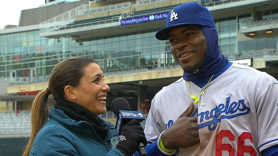 Puig on his four-hit outing