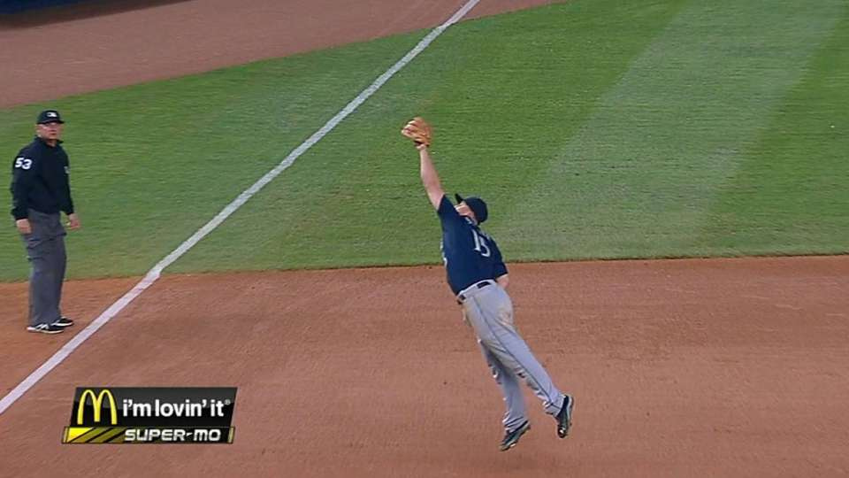 Seager's leaping grab
