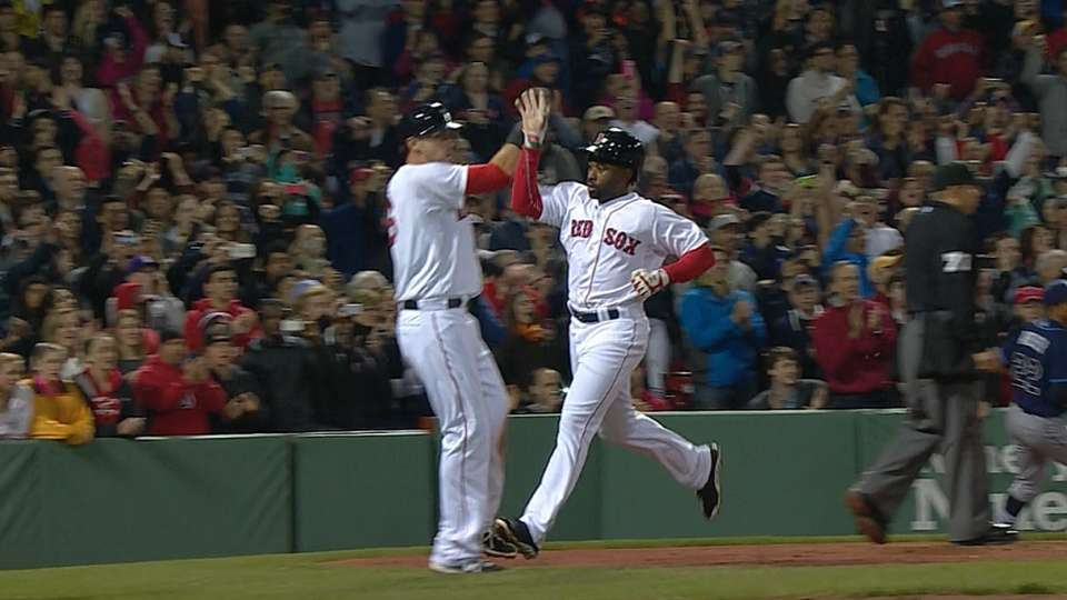 Red Sox score five in 5th