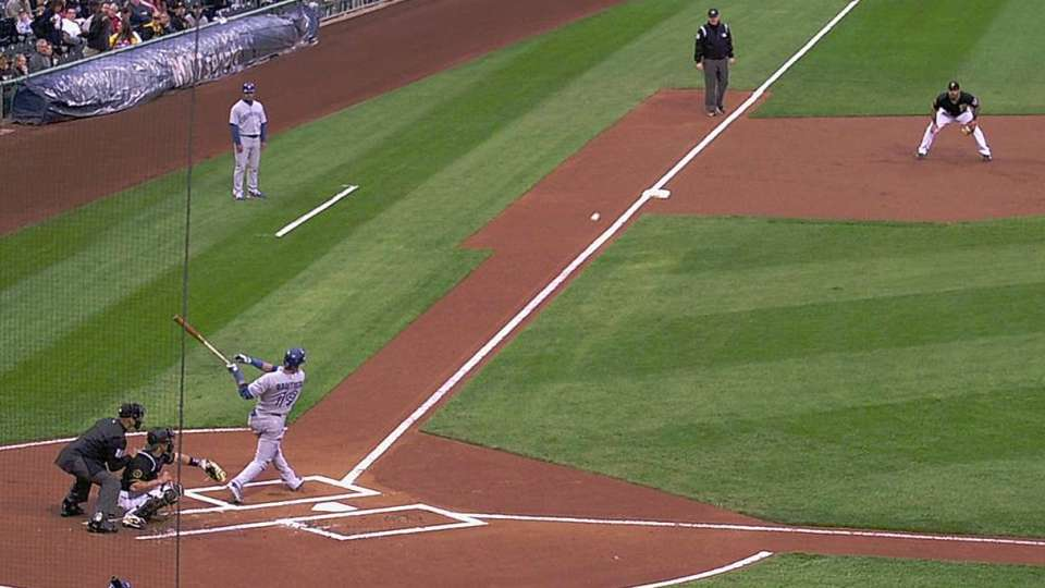 Bautista's ground-rule double