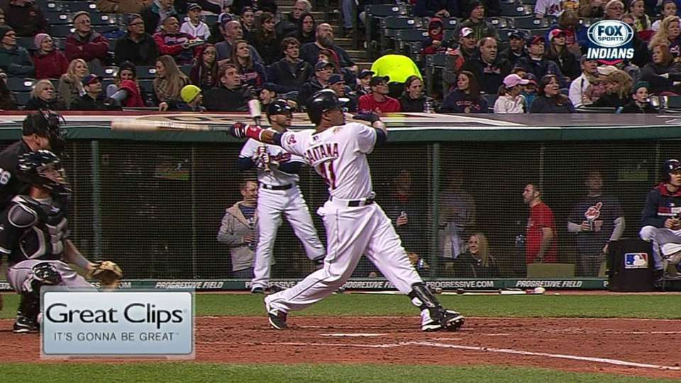 Santana's solo home run
