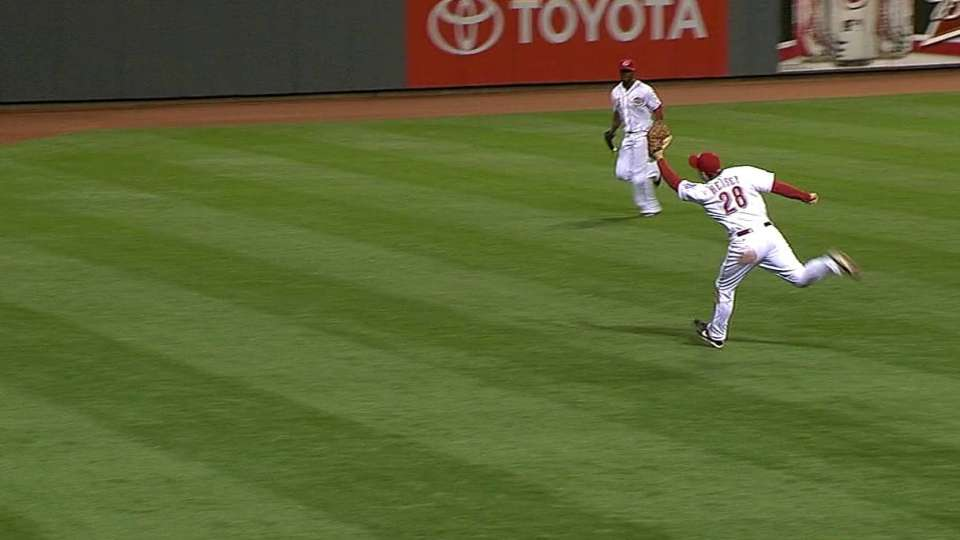 Heisey's great catch