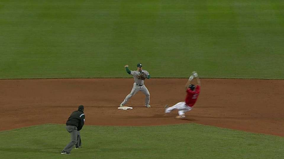 Donaldson starts double play
