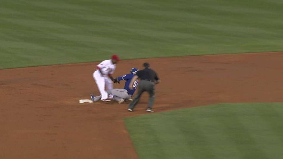 Angels catch Rios stealing