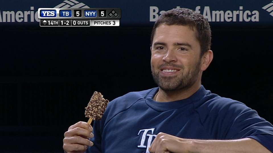 DeJesus has ice cream in extras
