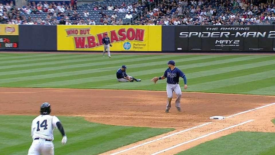 Rodriguez's hustle play