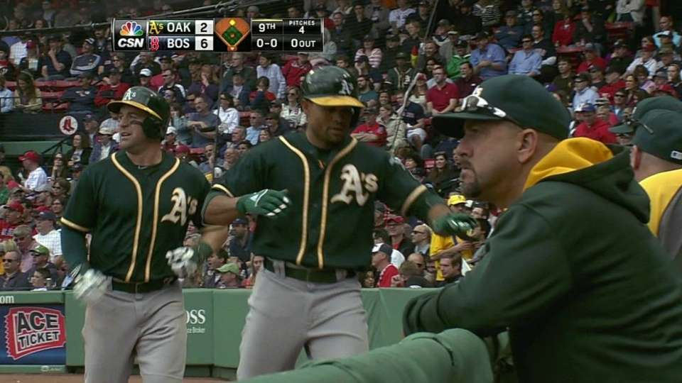 Lowrie's late two-run double