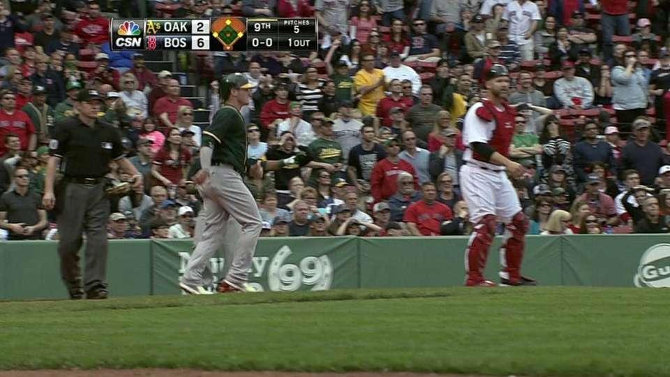 Donaldson crosses home plate