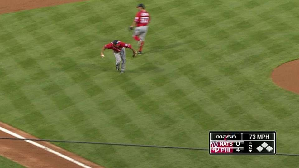 Rendon's catch and toss