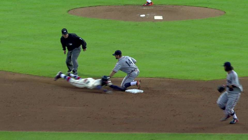 Heyward's stolen base