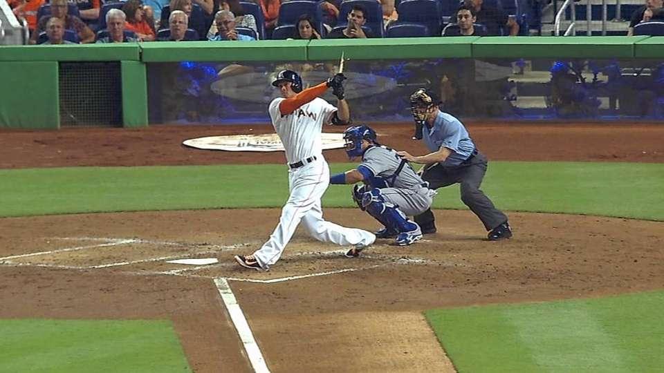 Stanton's broken bat