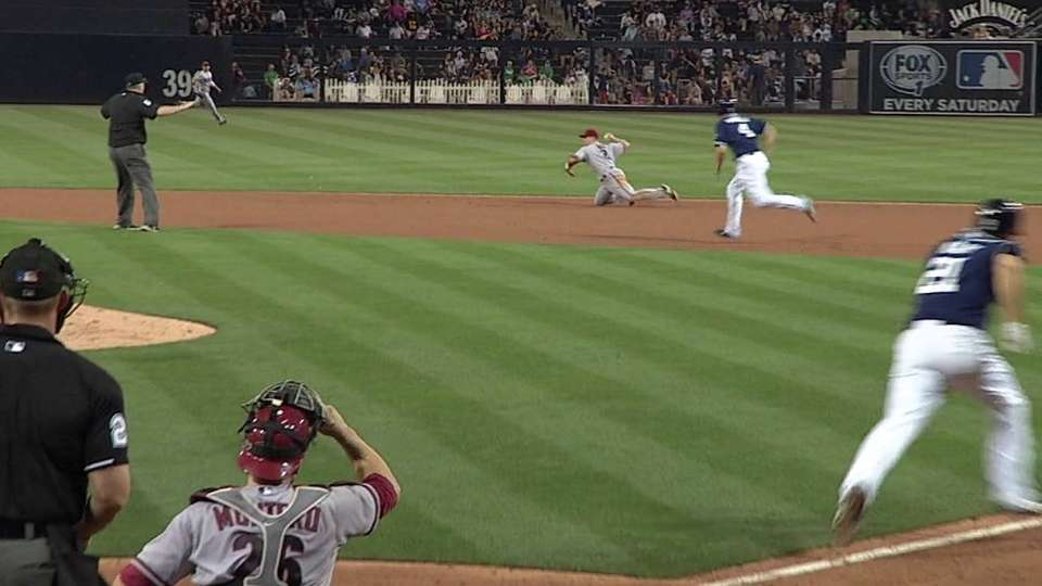 Hill starts the double play