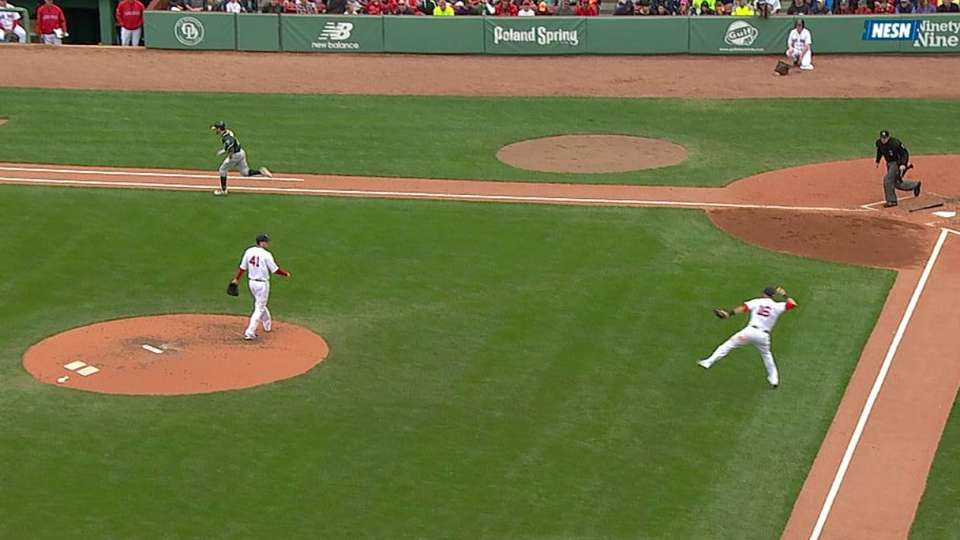 Middlebrooks' strong throw