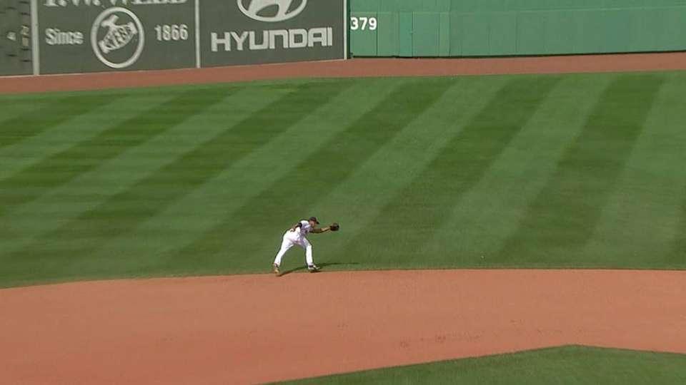 Bogaerts' run-saving play