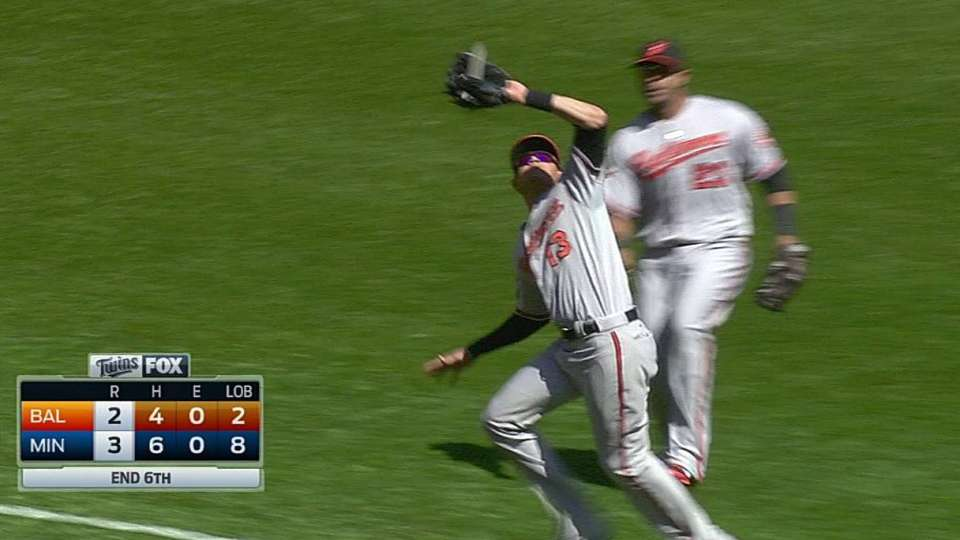 Machado's nice catch