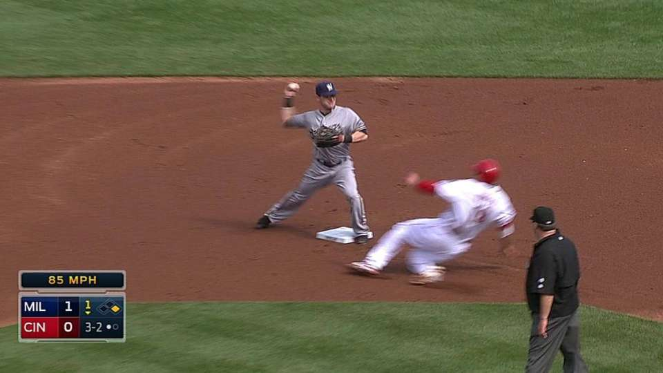 Segura starts the double play