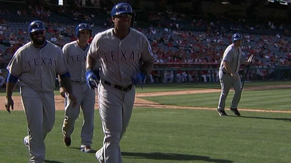 Rangers' five-run outburst